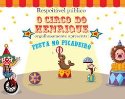 Painel de Parede Circo Festa Picadeiro
