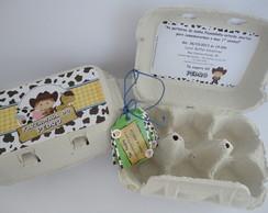 convite caixa ovo - personalizada