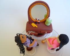 Bonecas na Penteadeira