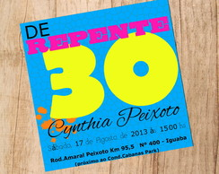 Convite Digital Festa 30 Anos