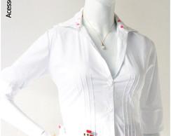 Camisa Manga 3/4 com nervuras e Detalhe
