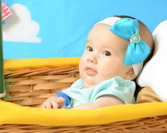 Faixa Baby La�o Cetim e Tul�