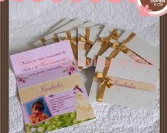 Convite vazado Princesas Bela