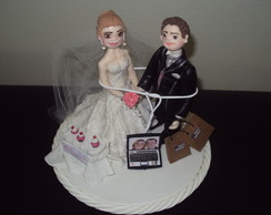 topo de bolo noivinhos internautas