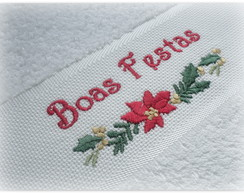 Toalha de lavabo - Bordado Natal