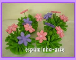 kit graminha com flores 4 pe�as