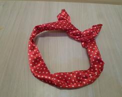 Tiara Lacinho - Vermelha com Bolinhas