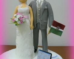 Topo de bolo - Casamento da Tatiana