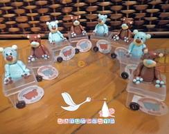 Caixinhas de acr�lico Ursinhos