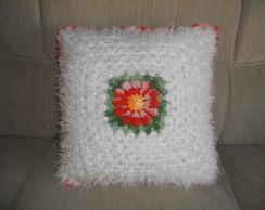 capa de almofada flor margarida