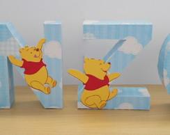 Letras decorativas Ursinho Pooh