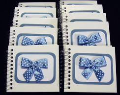 Kit Mini Caderno Azul