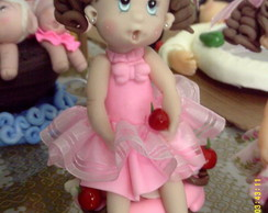 boneca decorativa ou topo de bolo