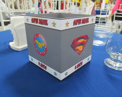 Centro de Mesa em MDF - Super Her�is