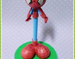 Caneta decorada homem aranha