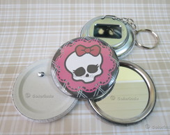 Botton 5.5 cm Skullette Monster High