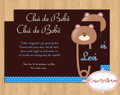 Convite Ch� de Beb� Alfinete