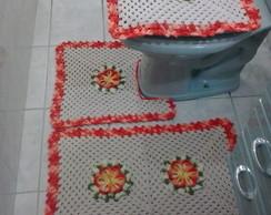 Jogo De Banheiro Flor do Caribe