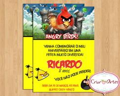 Convite Angry Birds Amarelo