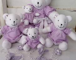 Ursinhas Lil�s Decora��o de Quarto Beb�