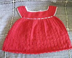 Vestido infantil de croch�