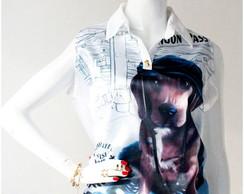 Camisa Cetim Dog- C�d 1007 A