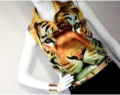 Camisa  Dourada Tigre Cetim- C�d 1007