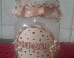 POTE A��CAR DECORADO COM BISCUIT