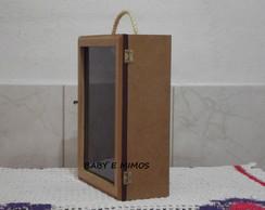 Caixa Vinho com Vidro Frontal