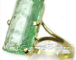 Anel Ouro 18 KL Esmeralda natural Brasil