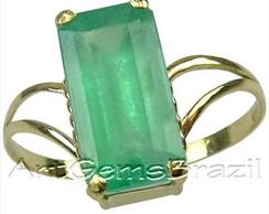 Anel ouro 18 KL Esmeralda Brasil natural