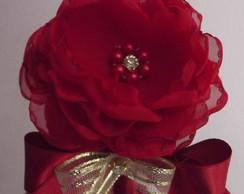 Tiara flor c/ la�o