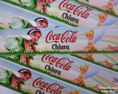 R�tulo adesivado coca-cola Sininho
