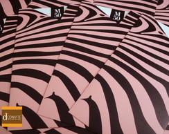Convite de Anivers�rio - Zebra Color