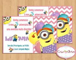 Convite Minions para Meninas