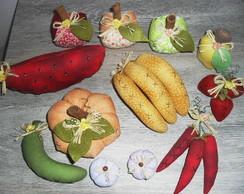 Frutas em tecido