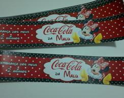 R�tulo Coca-Cola Ca�ulinha - Minnie