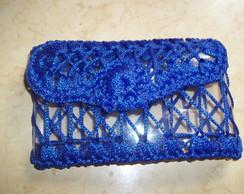 Carteira De Pet Com Croch� - Azul