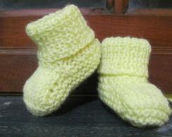 Botinha de tric� para beb�
