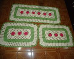 jogo de tapetes em croch�