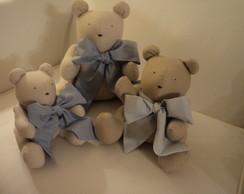 Ursos - Fam�lia ursos em bege e azul !