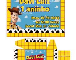 Convite Caixinha Toy Story