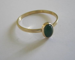 Anel Jade verde Ouro 18k