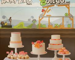 Festa Angry Birds Painel de Parede