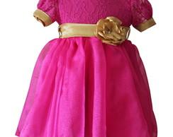 Vestido Renda Pink 1099