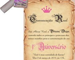Convite Princesa Dayse