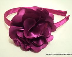 Tiara flor cam�lia 8 cm PINK