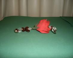 Chaveiro De Rosa De Eva P - Vermelha 4