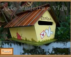 Caixa de Correio em madeira - casinha