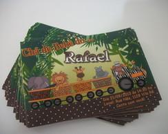 Convites ch� de beb� safari